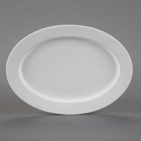 Picture of Ceramic Bisque 28574 Rimmed Oval Platter