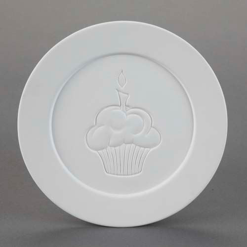 Picture of Ceramic Bisque 29051 Cupcake Dinner Plate