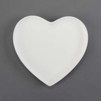 Picture of Ceramic Bisque 30615 Large Heart Plate