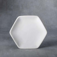 Picture of Ceramic Bisque 37472 Small Honeycomb Dinnerplate