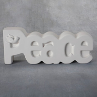 Picture of Ceramic Bisque 38425 Peace Plaque