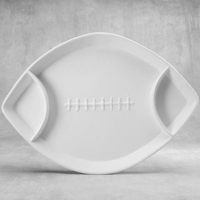 Picture of Ceramic Bisque 38550 Divided Football Dish
