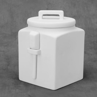 Picture of Ceramic Bisque 38426 Kitchen Canister with Scoop