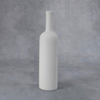Picture of Ceramic Bisque 38410 Wine Bottle Plaque